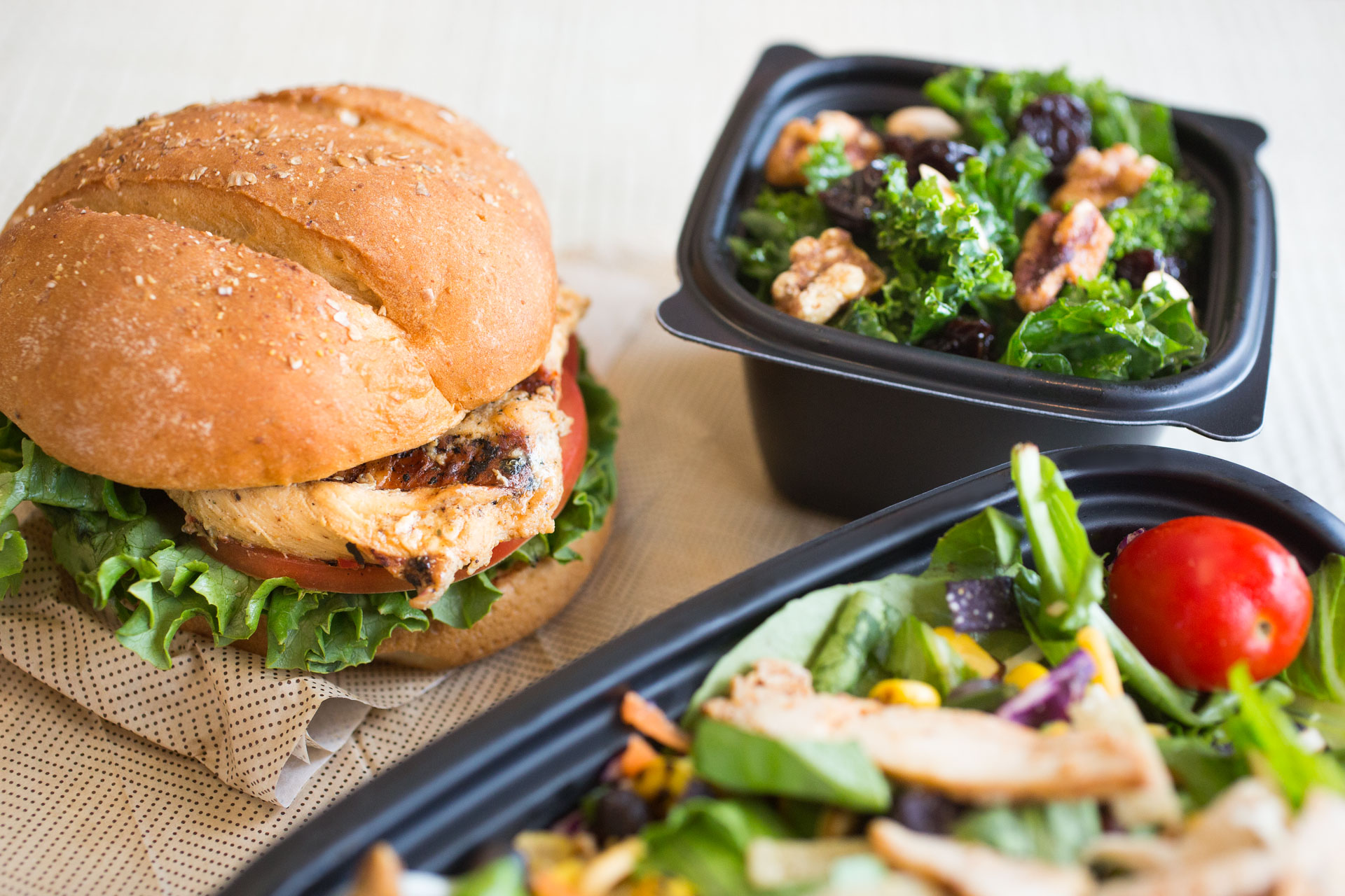 Chick-fil-A healthy products lineup - Grilled Chicken Sandwich and Superfood Side
