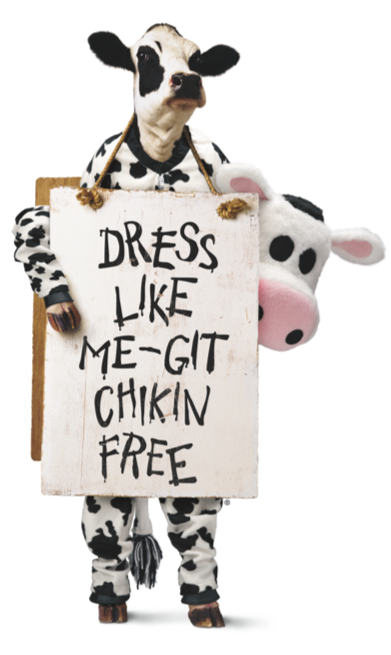 graphic relating to Eat More Chicken Printable Sign known as Cow Appreciation Working day Chick-fil-A